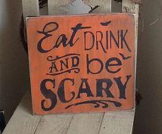 Halloween wooden sign, Halloween decoration, family Halloween.