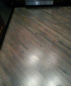 Red oak floor with custom gray stain hardwood floors for Wood floor 45 degree angle