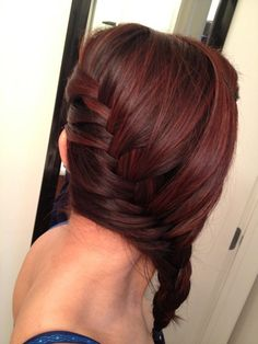 Side french braid & I want her hair color!!