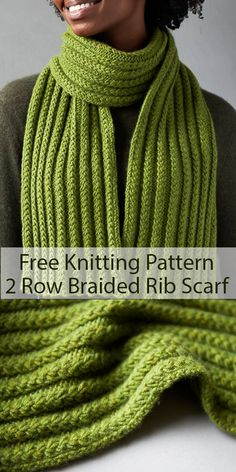 Free Knitting Pattern for 2 Row Repeat Braided Rib Scarf - This cozy scarf featu. Free Knitting Pattern for 2 Row Repeat Braided Rib Scarf – This cozy scarf features a 2 row repea Easy Scarf Knitting Patterns, Knitting Blogs, Crochet Stitches Patterns, Knitting For Beginners, Loom Knitting, Free Knitting, Knitting Scarves, Knitting Ideas, Designer Knitting Patterns