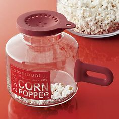 A big step up from the bag, this durable, eco-friendly glass popper makes microwave popcorn minus the unwanted oils, additives and waste. A great gift for the popcorn enthusiast.