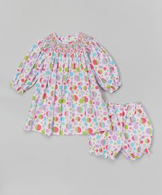 e76b768acc First birthday Cotton Frocks, Pink Polka Dots, Smock Dress, Smocking,  Floral Tops