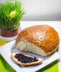 Maslový mazanec Russian Recipes, Baked Potato, Easter, Bread, Baking, Ethnic Recipes, Polish, Basket, Recipies