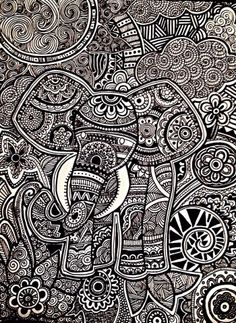 Zentangle Art  Daniela Hoyos Art insta- danielahoyos