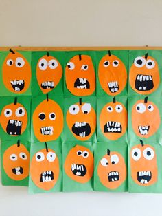 Bal kabağı turuncu renk etkinliği Halloween Crafts For Kids, Halloween 2017, Halloween Christmas, Halloween Art, Halloween Pumpkins, Grade 1 Art, Class Art Projects, Bricolage Halloween, Kindergarten Art