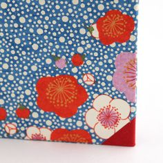 inlaid paper flowers on handmade cherry blossom journal by MissRuth, via Flickr
