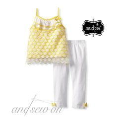 Mud Pie Honey Bee Outfit only $20.00 (Regular $40) -   Join us tonight at 8:30 p.m. CST for our weekly FB sale!  www.facebook.com/AndSewOnBCS