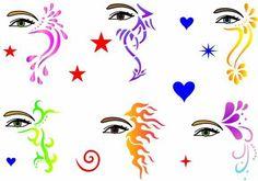 Printable Cheek Art Designs | AIR BRUSH FACE PAINTING