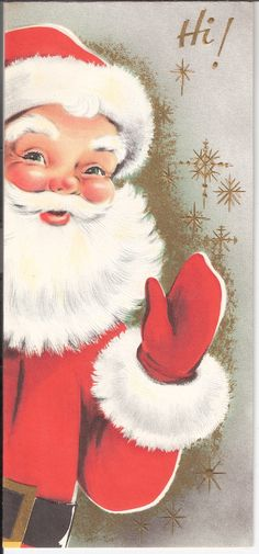 Vintage Santa Claus Waving ♥