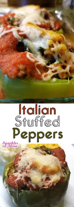 These Italian Stuffed Peppers are a regular in our household. Just simple ingredients coming together so easily, and it turns out so good every time. #stuffedpeppers #Italian #comfortfood