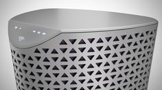 Not sure what this product is exactly (air purifier?), but I love the perforated pattern.