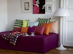 Bemz slipcover for turning bed into daybed - good idea for dual-use guestroom