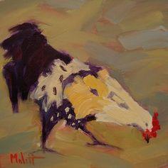 chicken painting | Heidi Malott Original Paintings: Rooster Chicken Hen Rural original ...