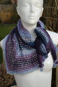 Halstuch blau lila gestreift - Handgemachte Sachen Crochet, Handmade, Fashion, Purple Streaks, Lilac, Light Blue, Moda, Hand Made, Fashion Styles