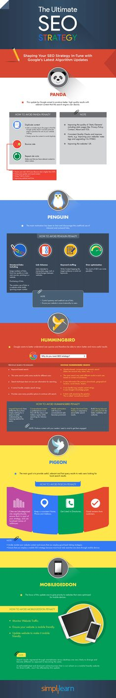 Shaping Your SEO Strategy In-Tune with Google's Algorithm Updates - #infographic