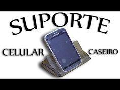 Suporte para celular feito com caixa de fita KCT