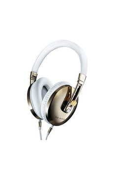 For the audiophile: Ted Baker's Rockall headphones meld high-performance sound with state-of-the-art construction, all in a brushed stainless steel and leather design. Warning: She may never want to take them off.