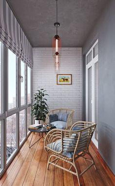 Interior Balcony, Small Apartment Interior, Apartment Balcony Decorating, Balcony Furniture, Home Decor Furniture, Apartment Design, Handmade Furniture, Contemporary Apartment, Furniture Design