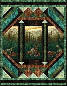 Lap Quilts Deer And Quilt On Pinterest