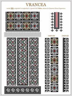 Cross Stitch Borders, Cross Stitching, Cross Stitch Patterns, Folk Embroidery, Embroidery Patterns, Moldova, Beading Patterns, Folk Costume, Hama Beads