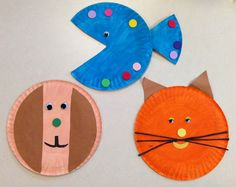 Pet theme- paper plate craft kids crafts preschool crafts, animal crafts, t Preschool Art Activities, Animal Activities, Preschool Activities, Preschool Lessons, Animal Themes, Toddler Art, Toddler Crafts, Crafts For Kids, Arts And Crafts