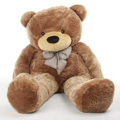 "Sunny Cuddles 72"" Brown Life Size Plush Teddy Bear - Giant Teddy Bear"