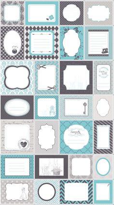 Riley Blake BLUE SewOn QUILT LABELS Panel 24 x 44 by donellefritz, $6.73