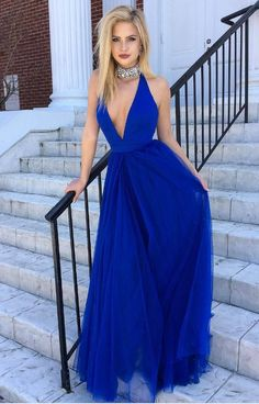 royal blue prom dress, halter prom gowns,tulle prom dress,sexy evening dress,long party dress Dresses Near Me Stunning Prom Dresses, Royal Blue Prom Dresses, Elegant Bridesmaid Dresses, Elegant Dresses, Pageant Dresses For Teens, Long Prom Gowns, Teen Dresses, Vestidos Azul Royal, Sexy Evening Dress