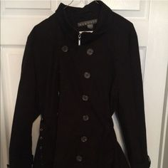 Black Mid length trench coat by Kenneth Cole. Black Mid length trench coat by Kenneth Cole. In very good condition. Kenneth Cole Reaction Jackets & Coats Trench Coats