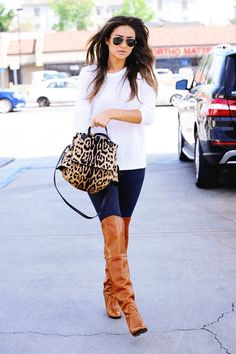 Shay Mitchell Cute Fall Outfit ~ 60 Great Fall - Winter Outfits On The Street - Style Estate - @styleestate