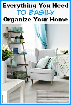 Great ideas! Everything You Need to Easily Organize Your Home- Wouldn't it be wonderful if your home was neat and organized, and it didn't take much effort to get it that way? Here's how to easily organize your home! | home organization, organizing ideas, garage organization, pantry organization, bedroom organization, kitchen organization, living room organization, kids' toys organization, home office organization