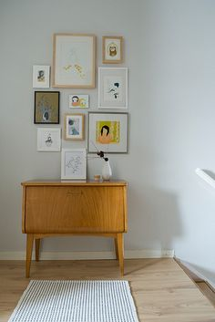 Art wall + new rug by KatjaR., via Flickr