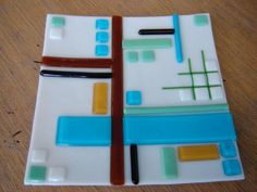Glass Fused Plate- by The Fire art studio