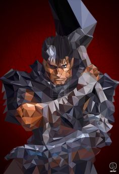 """Guts Low Poly HD"" by LightReaven.deviantart.com on @DeviantArt"