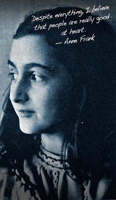Anne Frank, wisdom.