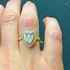 Anne Sportun pear shape diamond.   Am in love!