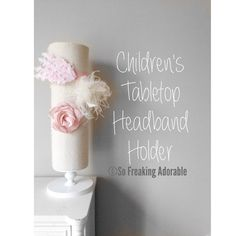 This item is unavailable Headband Holders, Stretchy Headbands, White Wood, Tabletop, Burlap, Kids Room, Ivory, Place Card Holders, Gift Ideas