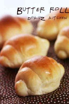 HBで♡基本のパン生地♥バターロールの画像 Japanese Buns, Japanese Bread, Sweets Recipes, Bread Recipes, Baking Recipes, Bread Bun, Bread Cake, Bread Pizza, Butter Roll