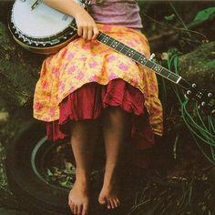 banjo woman.