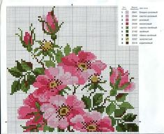 VK is the largest European social network with more than 100 million active users. Cross Stitch Tutorial, Cute Cross Stitch, Cross Stitch Borders, Cross Stitch Rose, Cross Stitch Flowers, Cross Stitch Charts, Cross Stitching, Cross Stitch Patterns, Embroidery Needles
