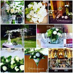Verde !! El color del 2017 ,bodas frescas y románticas . Green & white.
