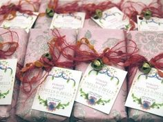 Rosary Soap~  Swirled with rose kaolin clay and ground red rose petals and deeply scented with rose geranium, rosewood and frankincense, it's a truly natural blessing to use in the bath.