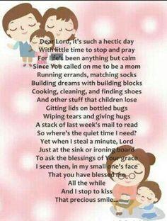A busy moms prayer