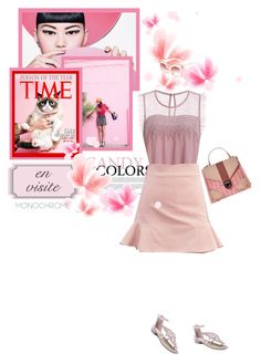 """Shades of pink"" by stellina-from-the-italian-glam ❤ liked on Polyvore featuring monochromepink"