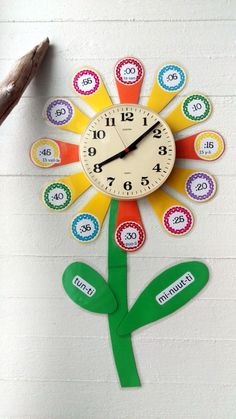 Classroom Crafts, Math Classroom, Learning Clock, Kindergarten Goals, Diy For Kids, Crafts For Kids, Tutoring Business, Kinesthetic Learning, Material Didático
