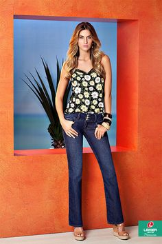Lemier Jeans Premium   Summer 2015   Verão 2015   ; calça jeans feminina; jeanswear; regata estampada feminina; estamparia; florais; tendência; trend; look feminino.