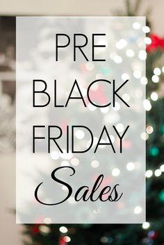 Pre Black Friday Sales 2016