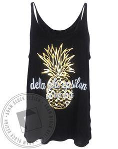 Delta Phi Epsilon Good Vibes Pineapple Tank by Adam Block Design