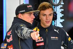 Pierre Gasly, Max Verstappen, Red Bull, Formule 1 Grand Prix van Mexico 2016, Formule 1