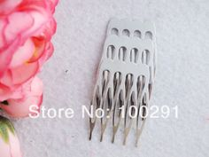 Free shipping !!! Bluk 500pcs/lot 27*40mm silver plated hair comb,hair jewelry findings MN-921 $66.53